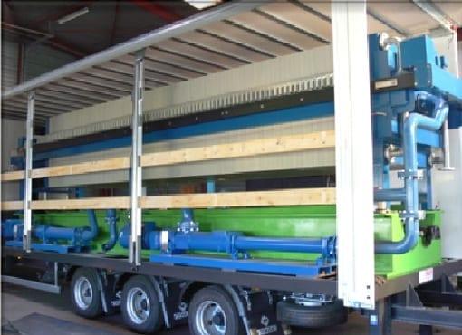 Aqua Traitements Saint Victoret Location d'Unités de Traitement Filtre presse mobile Dafim